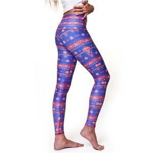 Teeki - Royal Blue Guns & Roses Leggings Hot Pants
